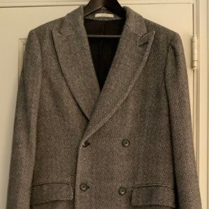 100% Cashmere Polo Styled Overcoat